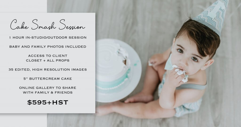 Downtown Toronto Cake smash Photographer Pricing