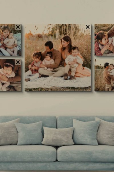 Family photo collage ideas by Anchor Studio