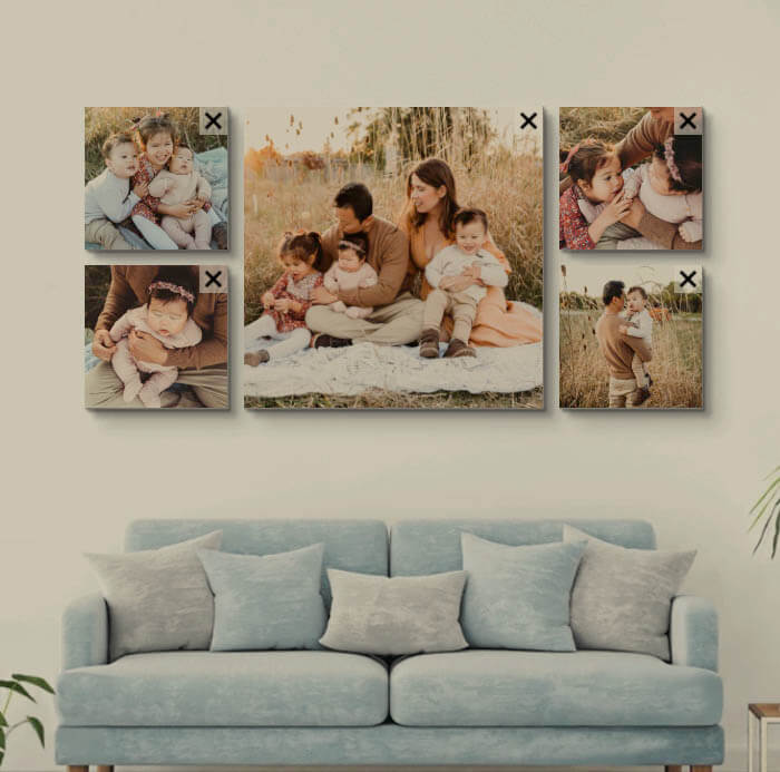 Family photo collage ideas