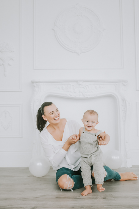 Mother and son birthday photos