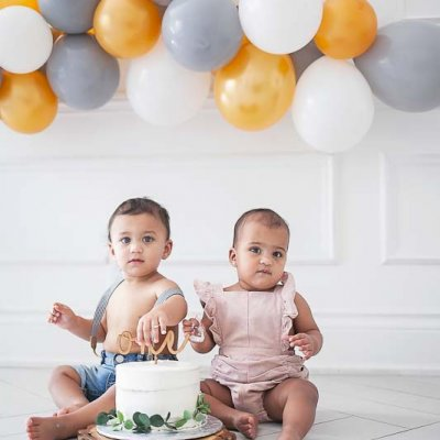 Twins and a big brother | First Birthday Cake Smash in Toronto
