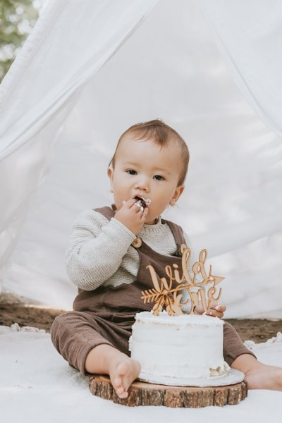 Toronto outdoor cake smash photographer
