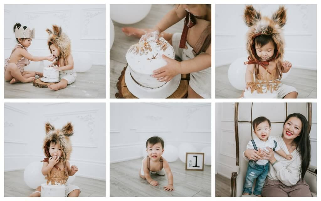 Cake smash photography studio