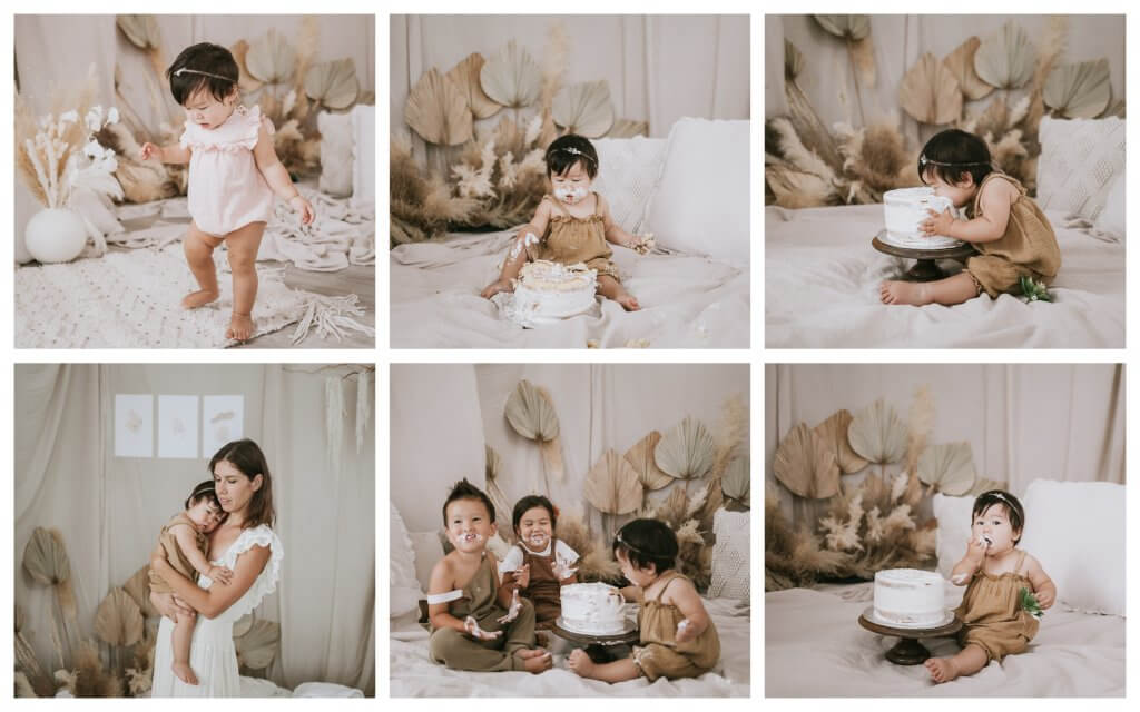 bohemian cake smash photographer