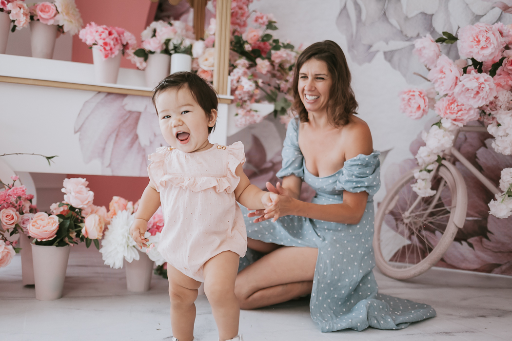 Mom and daughter photo